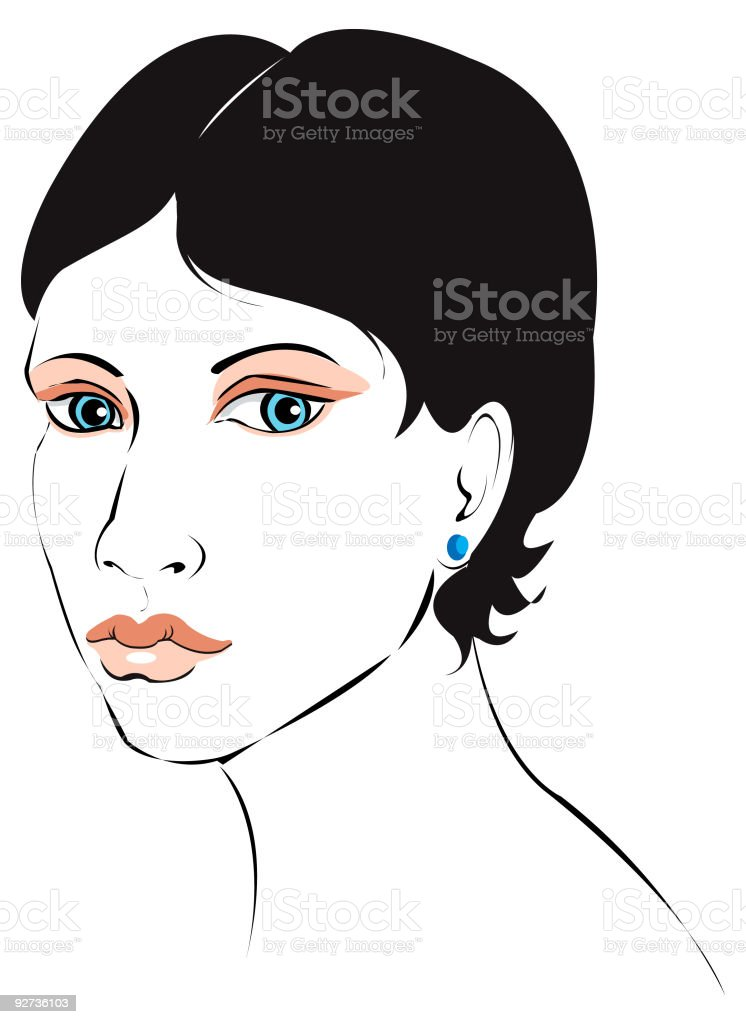 Face of a Modern Woman - Royalty-free Adult stock vector