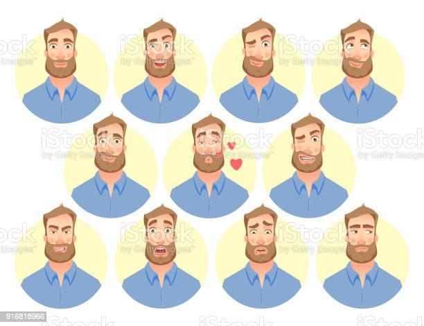 Face of man set vector id916818966?b=1&k=6&m=916818966&s=612x612&h=pd1lj2amoebefl3agqd0ehkr2sc29teoo2t0p3 rgsk=
