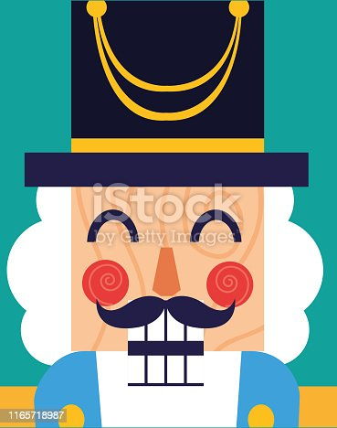 face of nutcracker general toy icon vector illustration design