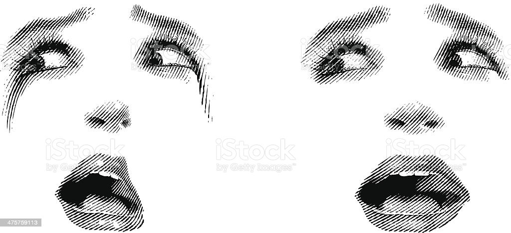 Face of Shock royalty-free stock vector art