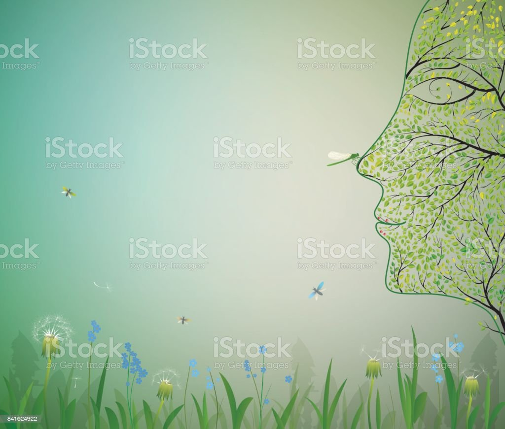 face of tree,