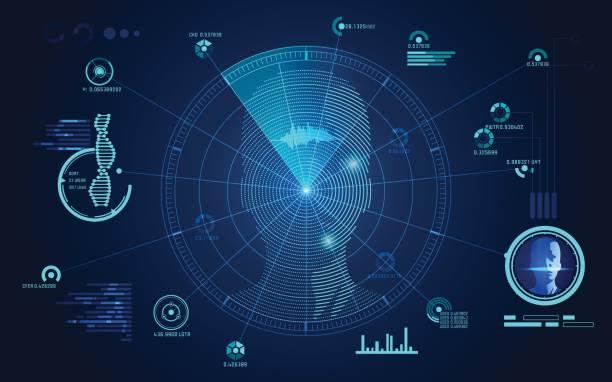 cara Radar - ilustración de arte vectorial