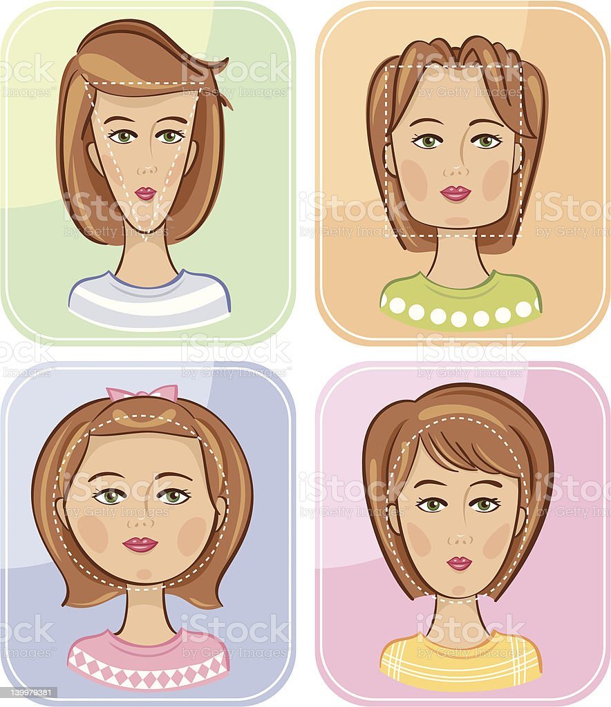 Face Shapes royalty-free face shapes stock vector art & more images of adult