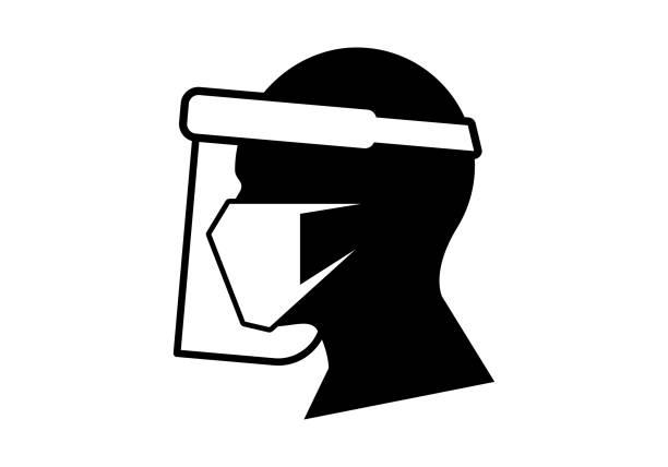 Face Shield vector art illustration
