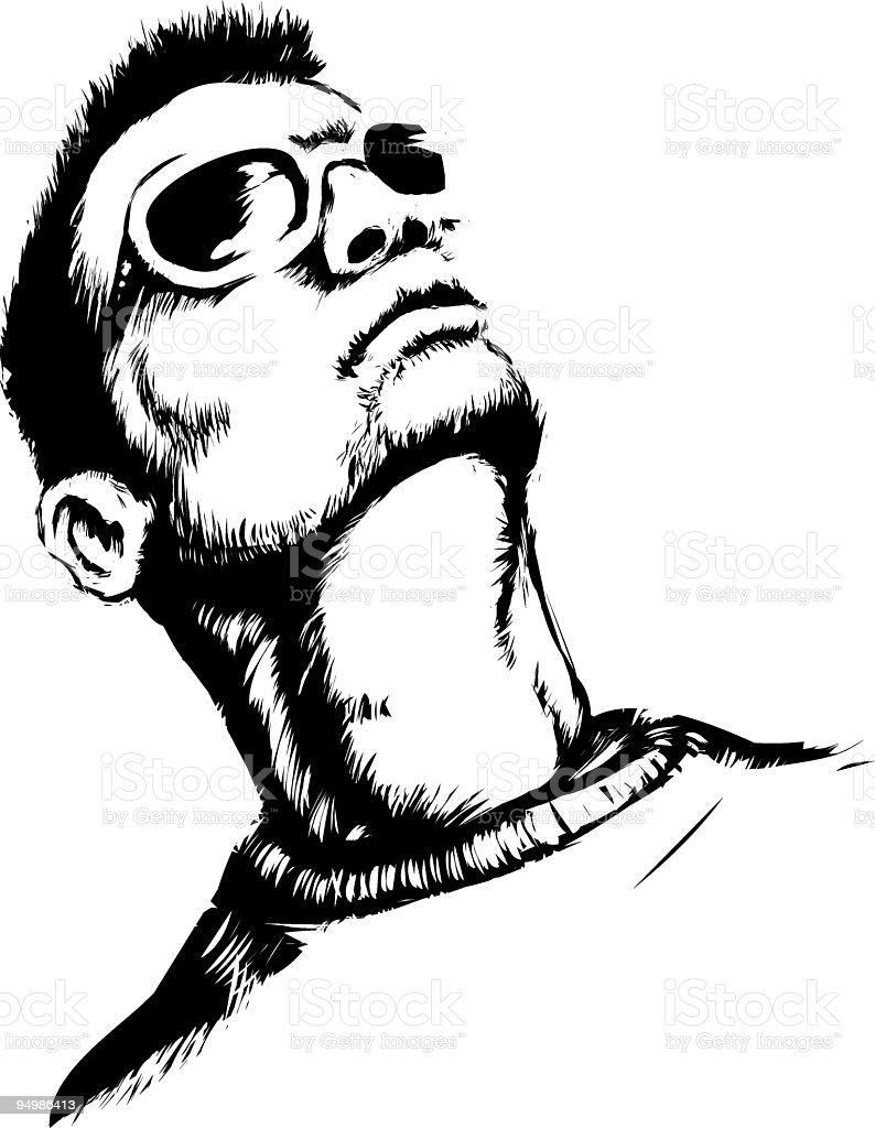 Face up vector art illustration