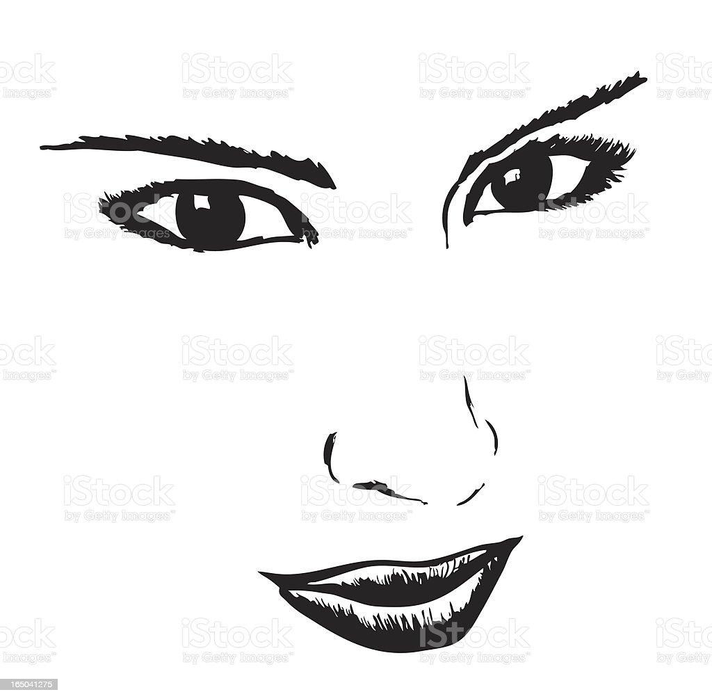 face royalty-free stock vector art