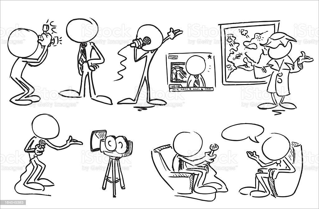 Faceless Character Media royalty-free stock vector art