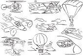Faceless Character using aircraft