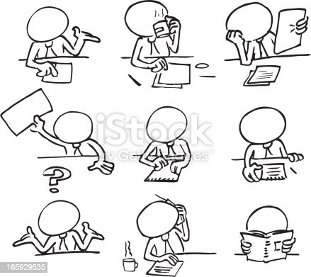 istock Faceless Characters Sitting in a Meeting 165929535