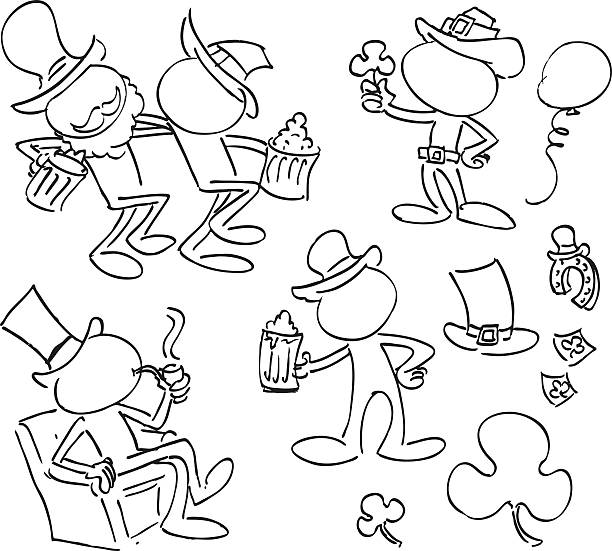 faceless characters - old man sitting chair drawing stock illustrations, clip art, cartoons, & icons