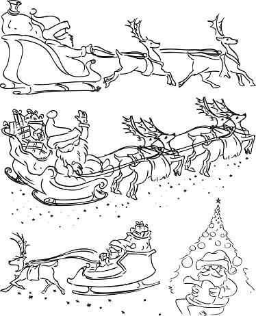 Faceless Santa claus Characters