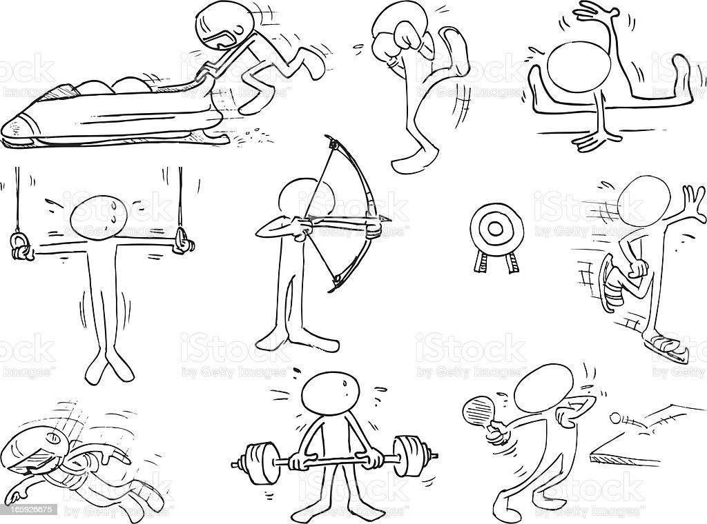 Faceless Sportsmen royalty-free stock vector art
