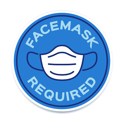 Facemask Required Symbol Icon