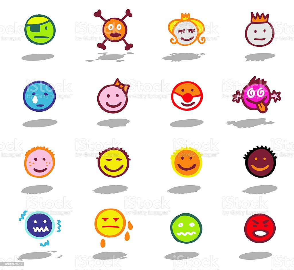faces and emotions theme royalty-free stock vector art