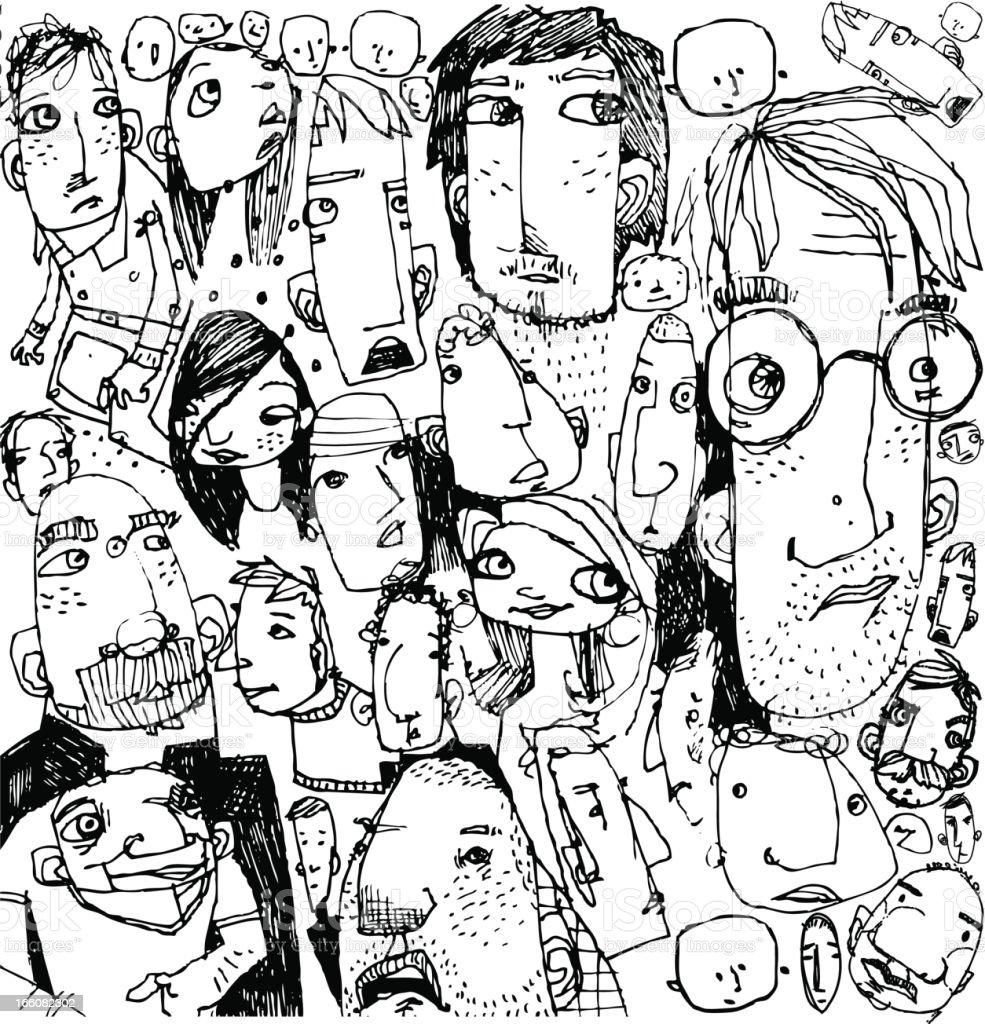 Gesichter-Hintergrund – Vektorgrafik