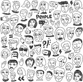 Faces - big doodles collection