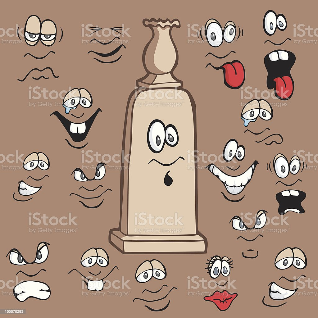 Faces for a Headstone royalty-free stock vector art