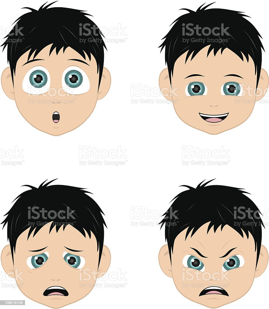 faces of boy royalty-free stock vector art
