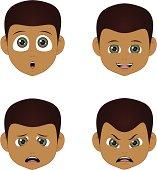 faces of boy