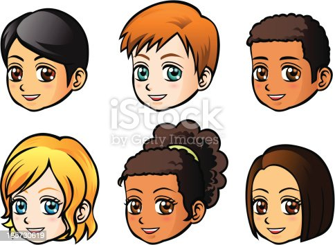 istock Faces of children (side view) 165730619