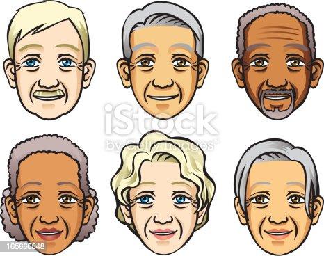 istock Faces of Senior 165666848