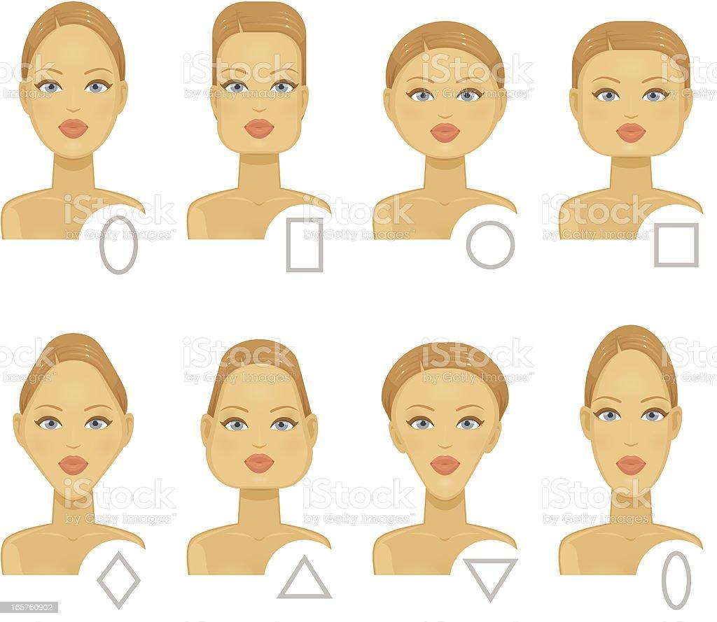 Faces Types vector art illustration