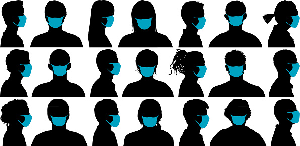 Faces. Masks can easily be removed- all faces underneath are complete.