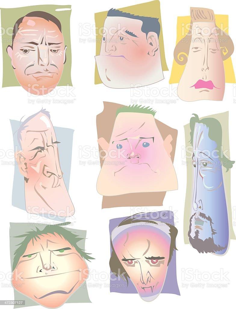 faces royalty-free stock vector art