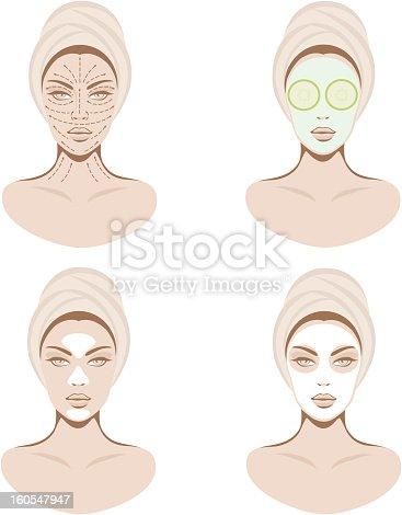 istock Facial care set 160547947