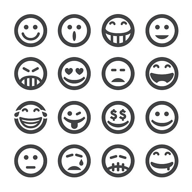 facial expression icons - acme series - jealous emoji stock illustrations, clip art, cartoons, & icons