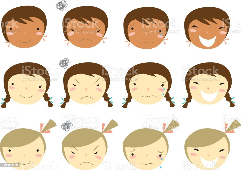 facial expressions royalty-free stock vector art