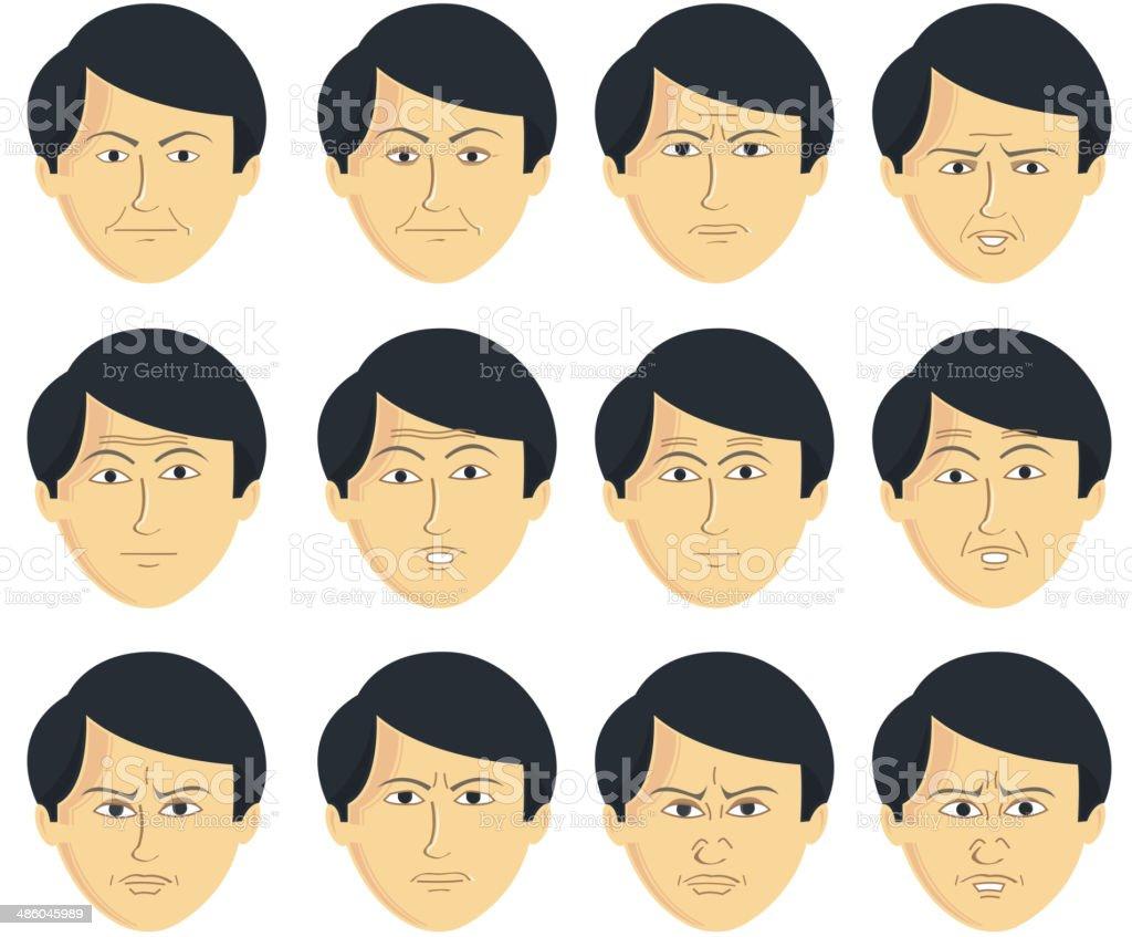 Facial Expressions vector art illustration