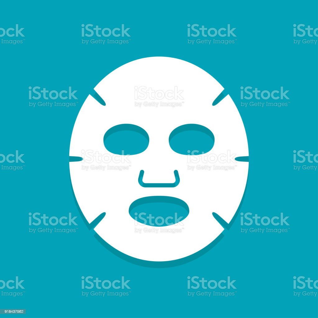 Facial Mask Flat Icon Stock Vector Art More Images Of Adult Ovale Sachet Tomat Royalty Free Amp