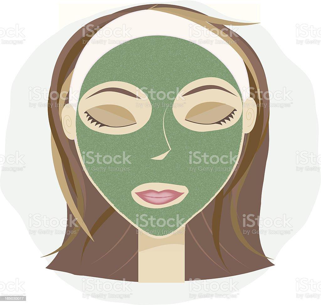 Facial Mask vector art illustration