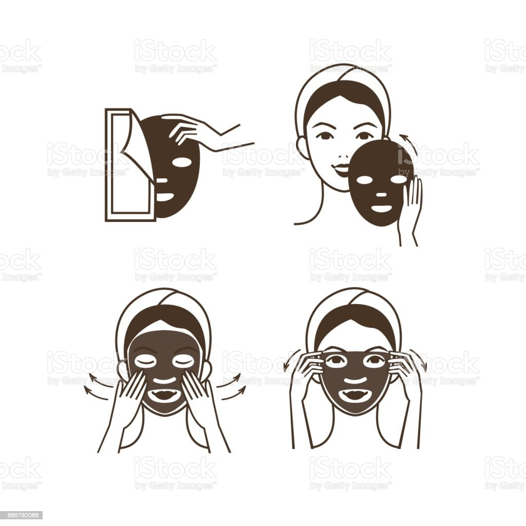 Facial mask vector art illustration