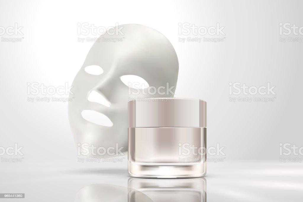 Facial mask with cream jar royalty-free facial mask with cream jar stock vector art & more images of applying