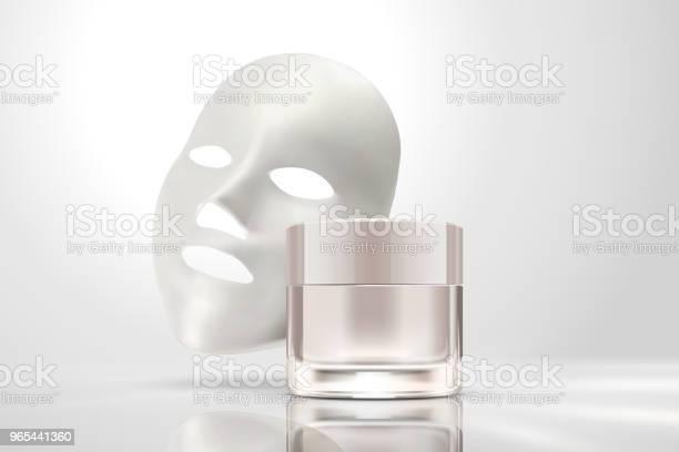Vetores de Máscara Facial Com Frasco De Creme e mais imagens de Aplicar