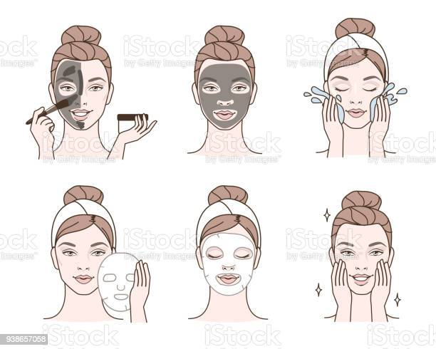 Gezichts Maskers Stockvectorkunst en meer beelden van Aanbrengen