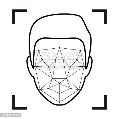 istock Facial Recognition System concept icons, simple vector illustration 1138172609