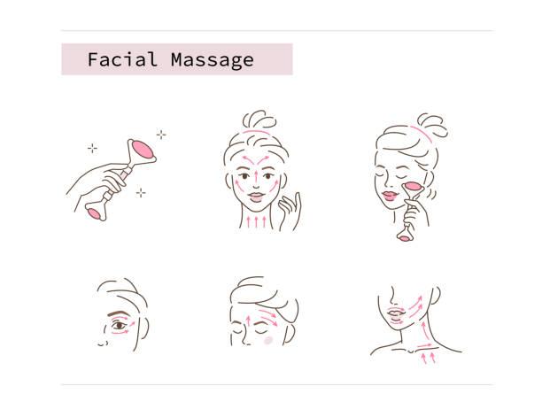 Gesichtsrolle – Vektorgrafik