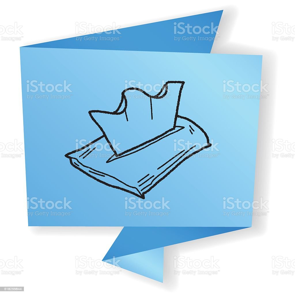 facial tissue doodle vector art illustration