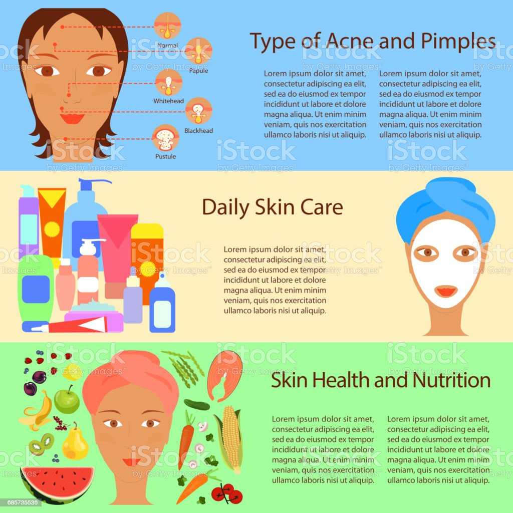 Facial treatment flyer vector art illustration
