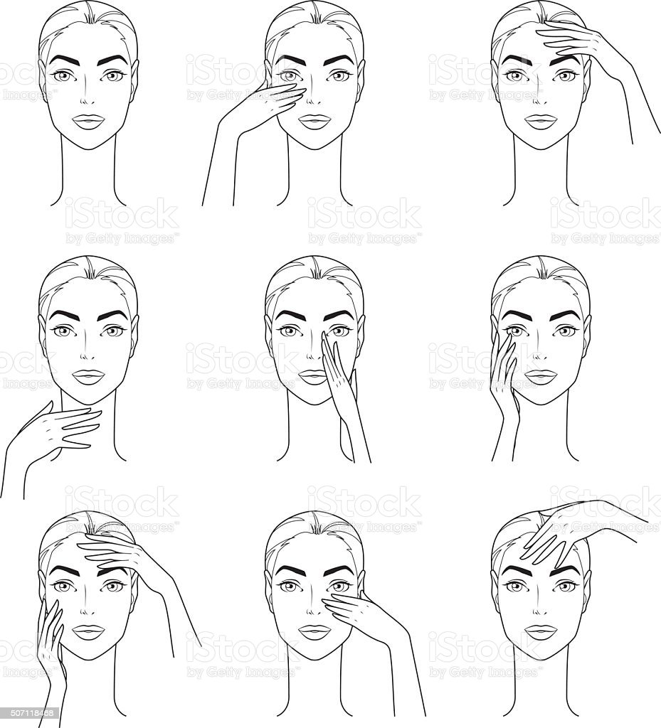 Facial Treatment vector art illustration
