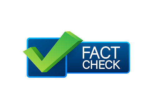 Fact check. Concept of thorough fact-checking or easy compare evidence. Vector stock illustration