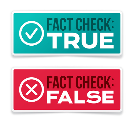 Fact Checking True and False Information Badges