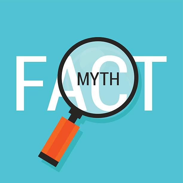 fact or myth fiction true - mythology stock illustrations
