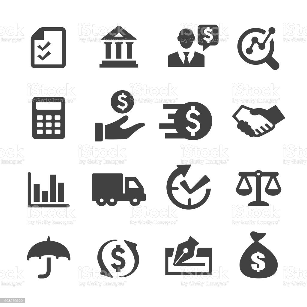 Factoring Company Icons - Acme Series vector art illustration