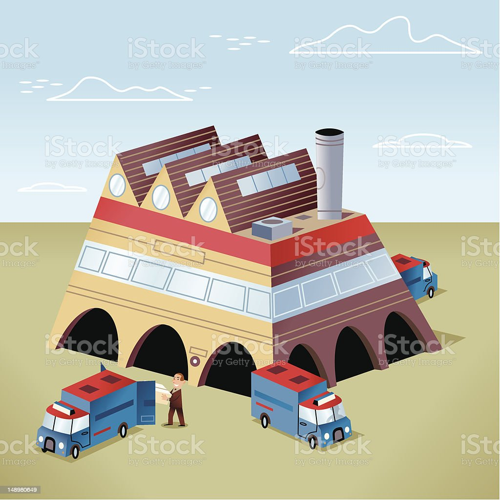 Factory: Delivery / Dispatch royalty-free stock vector art