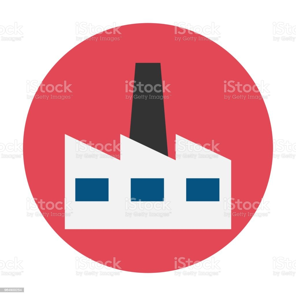 Factory flat icon royalty-free factory flat icon stock vector art & more images of air pollution