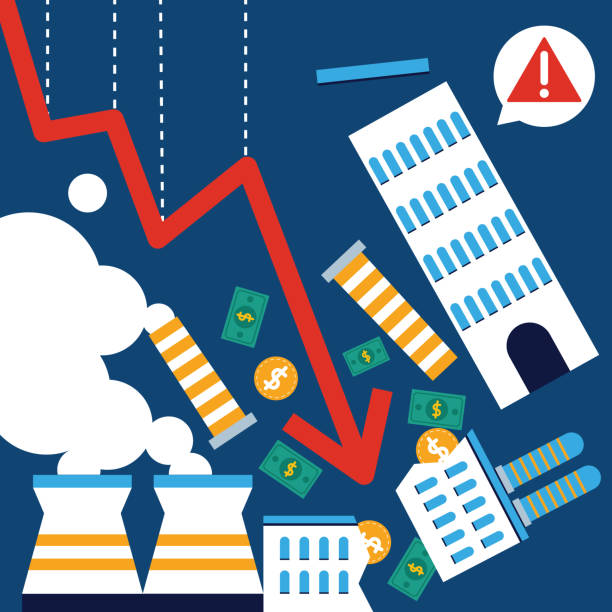 Stock Market Crash Illustrations Illustrations, Royalty ...